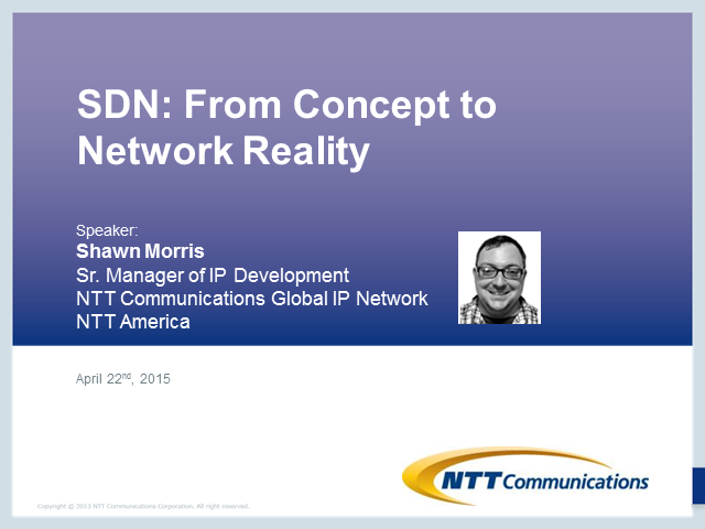 SDN: from Concept to Network Reality