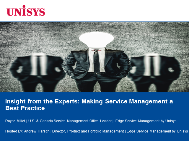 Insight from the Experts: Making Service Management a Best Practice