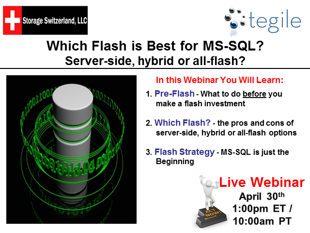 Which Flash is Best for MS-SQL? Server-side, hybrid or all-flash?