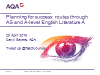 Planning for success: routes through AQA AS and A-level English Literature A