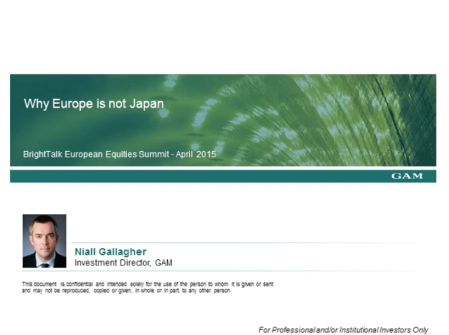 Why Europe is not Japan