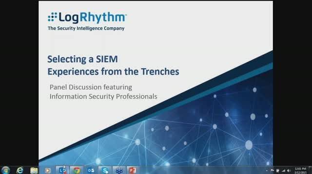 Selecting a SIEM: Experiences from the Trenches