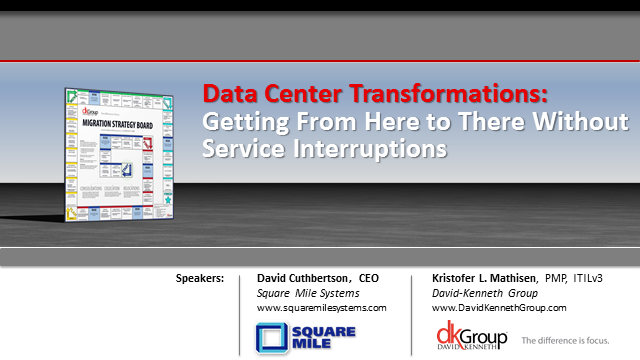 Data Center Transformations:  From Here to There Without Service Interruptions