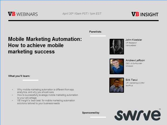 Mobile Marketing Automation: How to achieve mobile marketing success