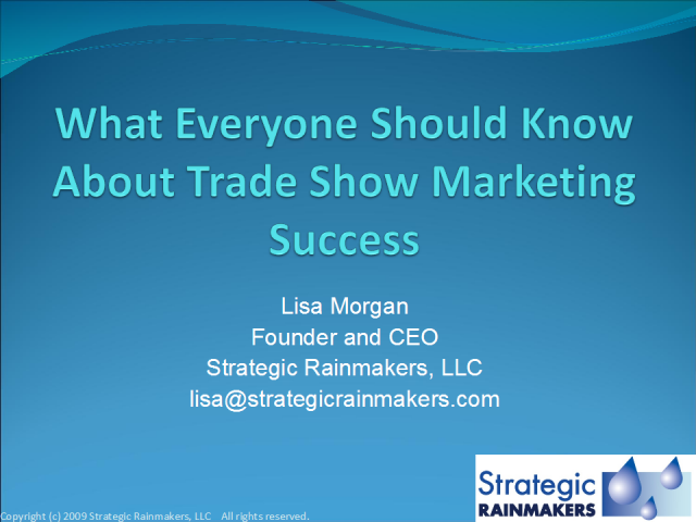 What Everyone Should Know for Trade Show Marketing Success