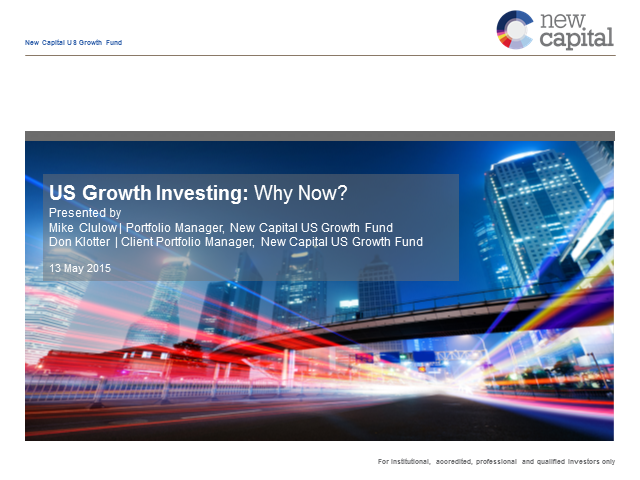 US Growth Investing: Why Now?
