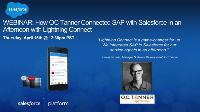 How OC Tanner Connected SAP with Salesforce in an Afternoon w/Lightning Connect