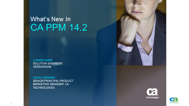 What's New In CA PPM 14.2