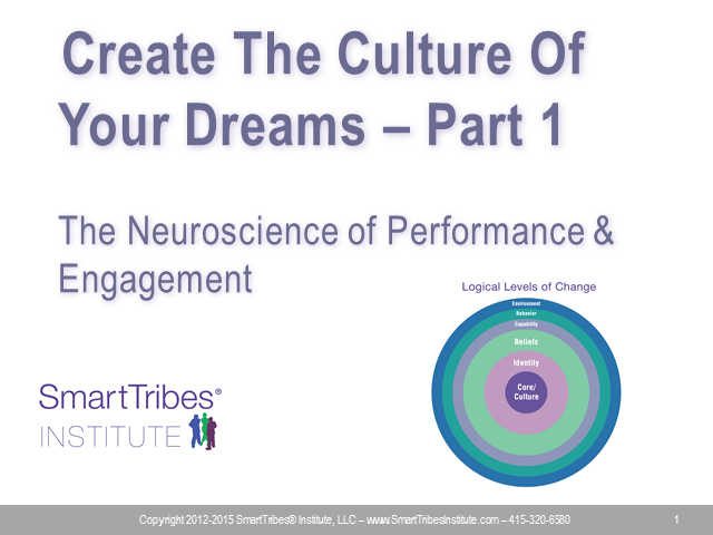 Create The Culture Of Your Dreams Part 1