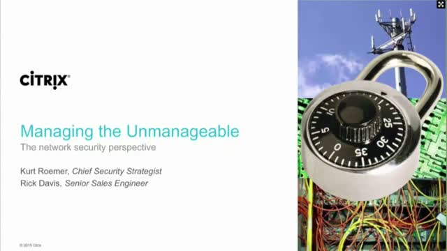 Managing the unmanageable: The network security perspective