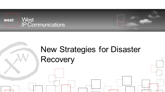 New Strategies for Disaster Recovery and Business Continuity