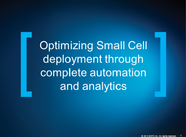 Optimizing Small Cell deployment through complete automation and analytics