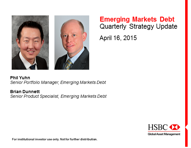 HSBC Webcast - Emerging Markets Debt Quarterly Update