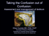 Taking the Confusion Out of Confusion: Assessment and Management of Delirium