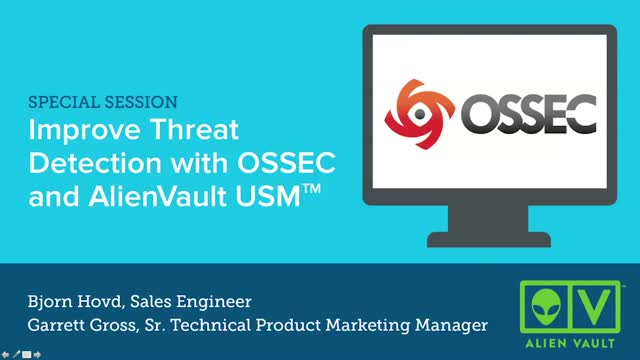 Improve Threat Detection with OSSEC and AlienVault USM