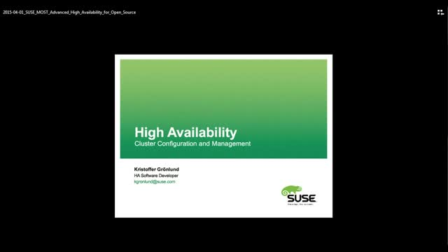 Advanced High Availability for Open Source
