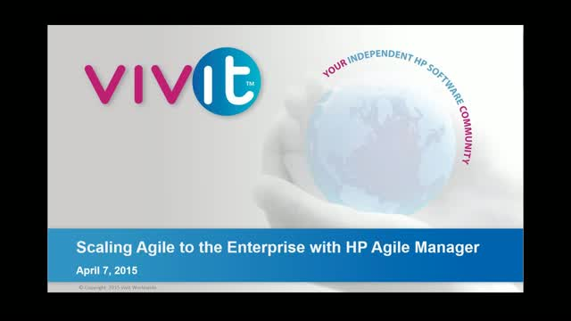 Scaling Agile to the Enterprise with HP Agile Manager