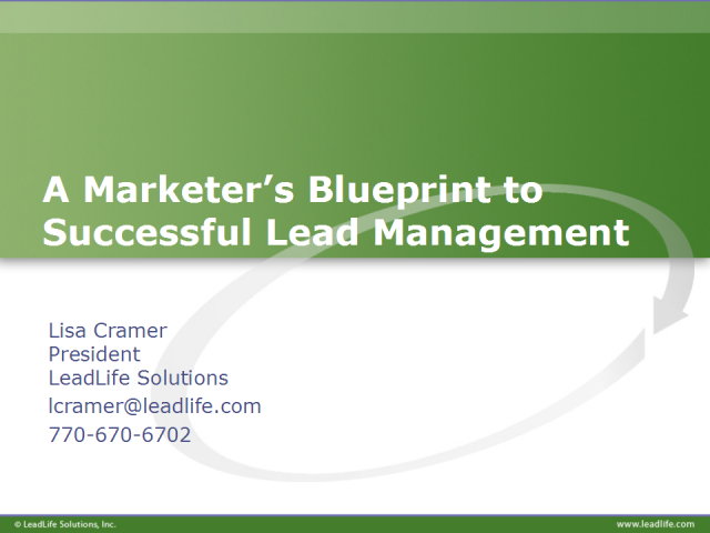 A Marketer's Blueprint to Successful Lead Management