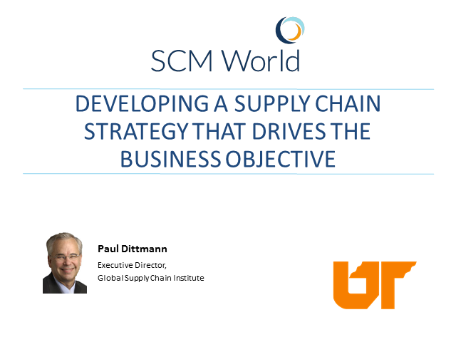 developing a supply chain strategy for Supply chain strategies generally conform to one of six types choose the best one for your organization, and you'll manage your business more effectively supply chains encompass the.