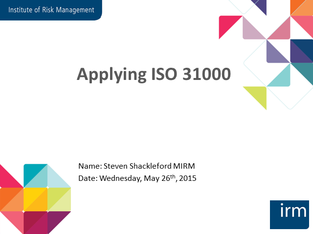Applying ISO31000