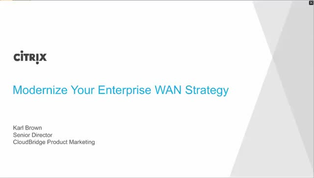 Modernize Your Enterprise WAN Strategy