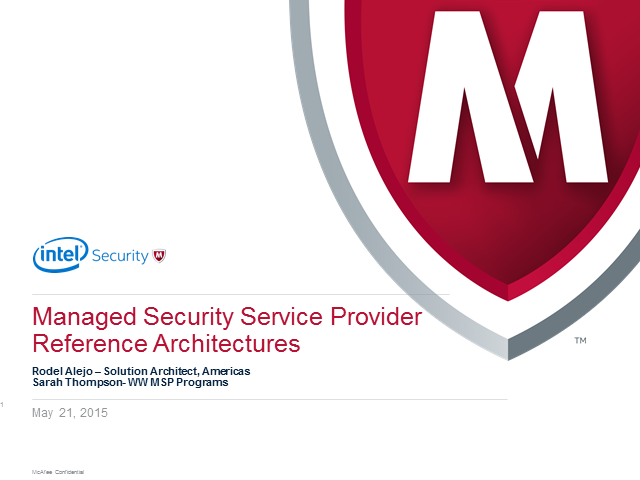 Intel Security Managed Services Solution Architecture