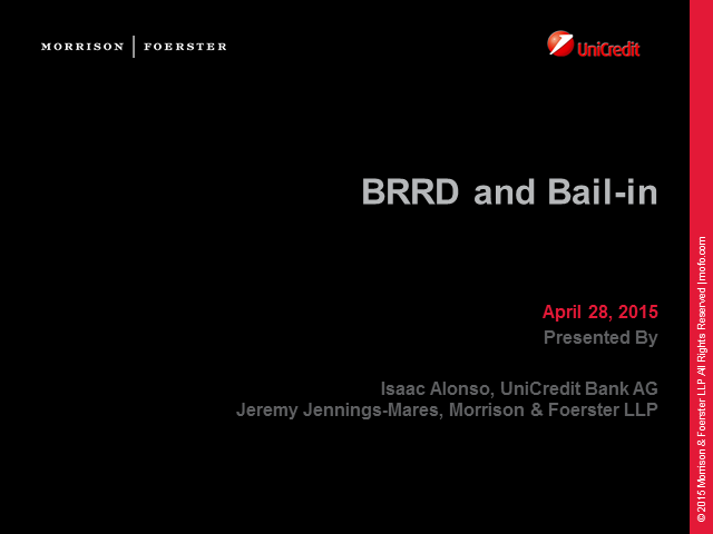 BRRD and Bail-in