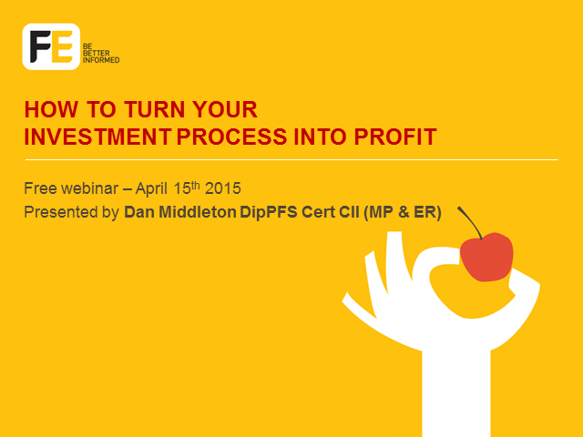 How to turn your investment process into profit