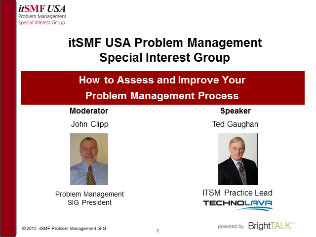 Problem Management CoI - How To Assess & Improve Your Problem Management Process