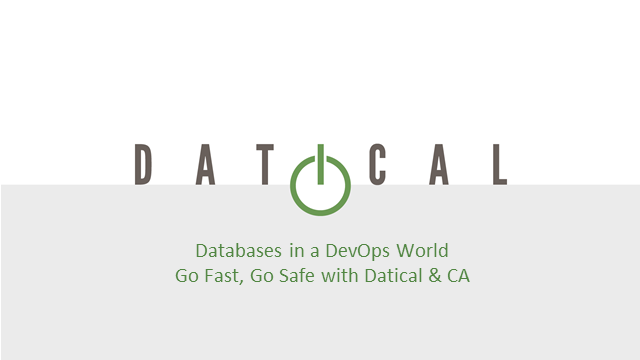 Databases in a DevOps World: Go Fast, Go Safe