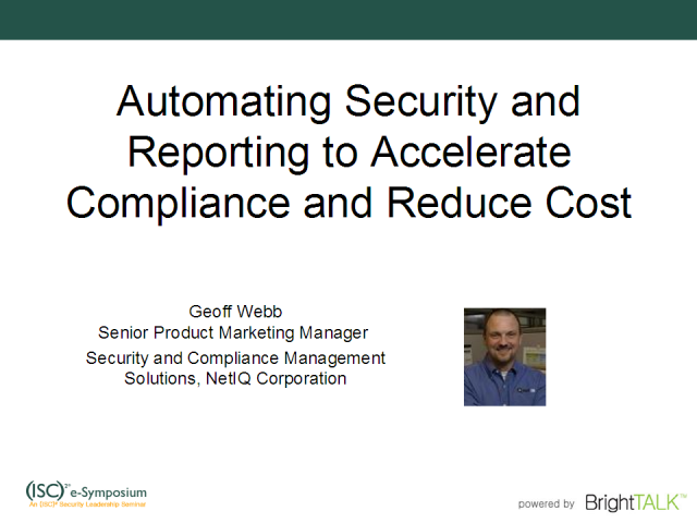 Automating Security and Reporting Functions