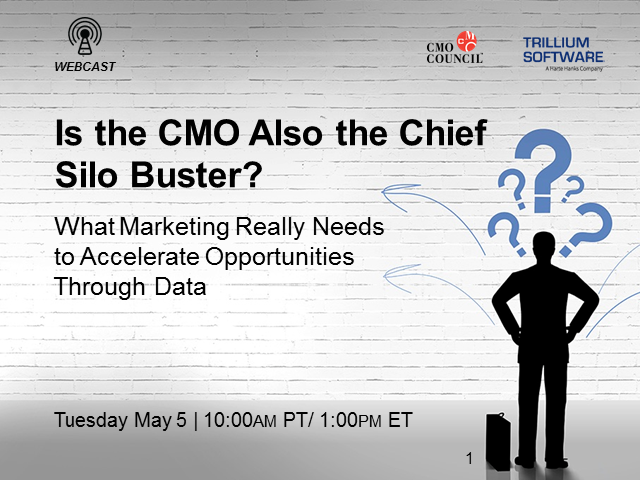 Is the CMO Also the Chief Silo Buster?