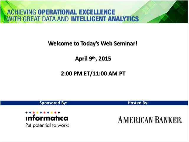 Achieving Operational Excellence with Great Data and Intelligent Analytics