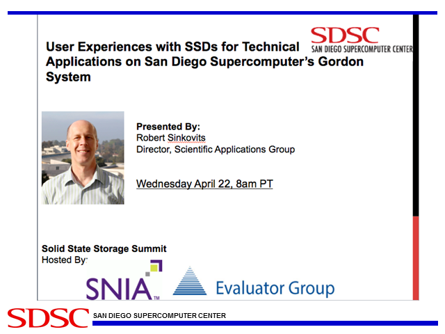 Experiences Using SSDs for Technical Applications on SDSC's Gordon System