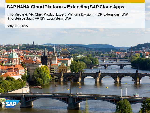 Business Webinar: SAP HANA Cloud Platform Extensions for SAP Cloud Applications