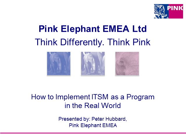 How to Implement ITSM as a program in the real world