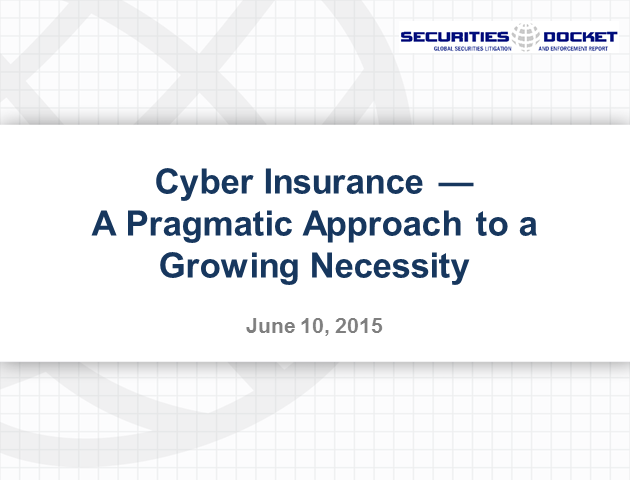 Cyber Insurance: A Pragmatic Approach to a Growing Necessity