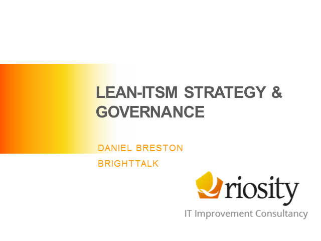 Adopting Lean ITSM today will make you ready for the IT of Tomorrow