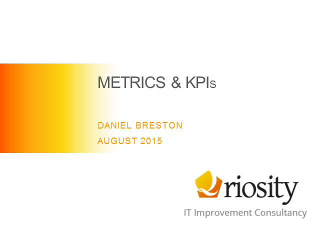 Dynamic ways to use ITSM Metrics in a Lean Manner