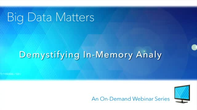 Demystifying In-Memory Analytics
