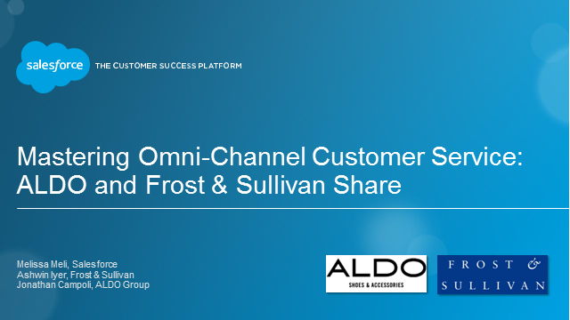 Mastering Omni-Channel Customer Service: ALDO and Frost & Sullivan Share