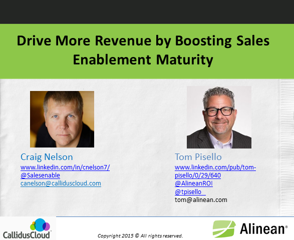 Drive More Revenue by Boosting Sales Enablement Maturity