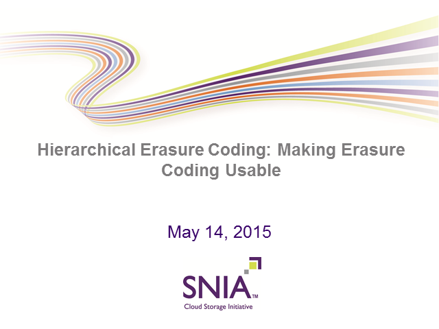 Hierarchical Erasure Coding: Making Erasure Coding Usable