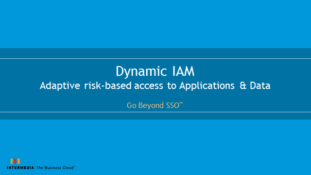 Dynamic IAM: Adaptive Risk-based Access to Web Apps and Data
