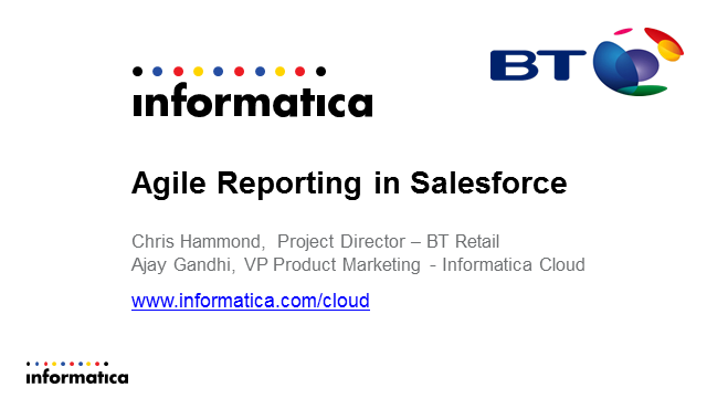 Agile Reporting in Salesforce
