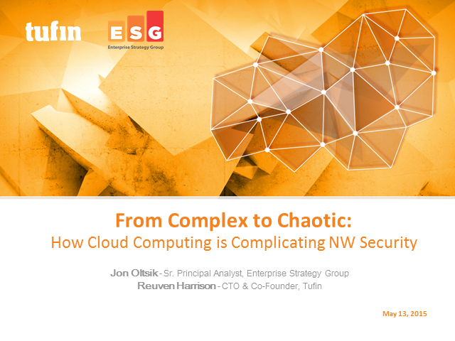 From Complex to Chaotic: How Cloud Computing is Complicating NW Security