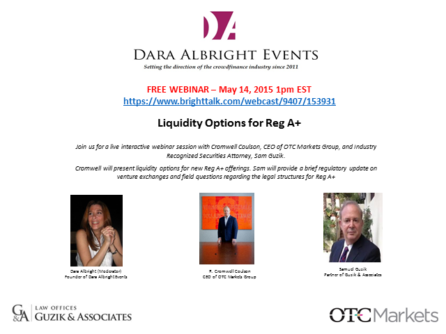 Liquidity Options for Reg A+