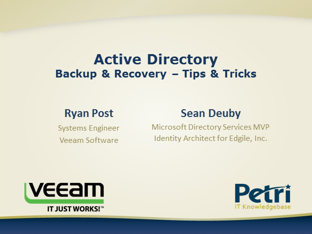 Active Directory Backup and Recovery