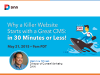 A Killer Website Starts with a Great CMS: in 30 minutes or less!