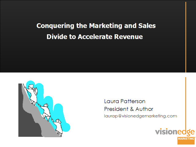 Conquering the Marketing and Sales Divide to Accelerate Revenue